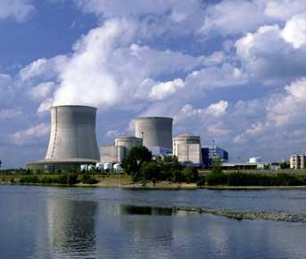 Nuclear Power Station On Sea