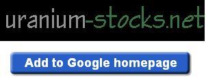 Add Uranium Stocks to your Google Homepage