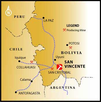 PAAS Bolivian Project Map