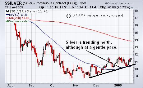 Silver Chart 23 Jan 09