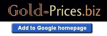 Add Gold Prices to your Google Homepage