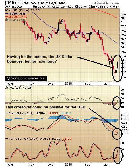 US Dollar Chart 21 March 2008