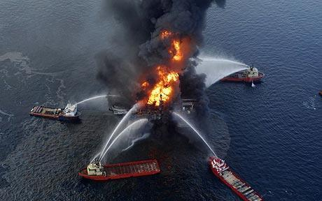 Fire Fighting the gulf oil slick 30 April 2010.jpg